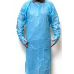 CPE BLUE DISPOSABLE GOWN WITH THUMB HOLES X5 CODE:-MMCOR001