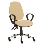 High Back Consultation Chair with Chrome Base and Arms CODE:-MMCHR003