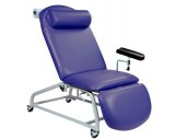 Fixed Height Reclining Phlebotomy Chair - 4 Locking Castors ,Vinyl - Anti Bacterial , CODE :-MMCHR010