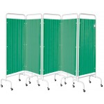 Five Panel Mobile Folding Curtained Screen , CODE:-MMCUR003