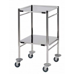 Surgical Trolley, 2 Removable reversible folded Stainless Steel Shelves CODE:-MMTRO001
