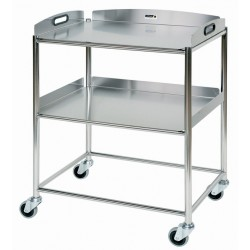 Surgical Trolley, 2 Stainless Steel Trays CODE:-MMTRO003