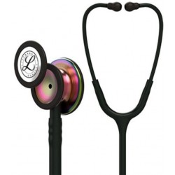 3M Littmann Classic III Stethoscope - Black with Rainbow Chest-piece CODE:-MMCSTE20/LBR