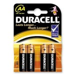 Duracell Batteries AA x4