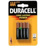 Duracell Batteries AAA x4