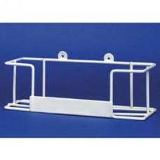 Glove Dispenser - White Plastic Coated Wire Frame - Single